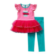 Youngland® Cupcake Tutu Top and Leggings – Toddler Girls 2t-4t