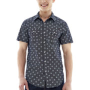 JF J. Ferrar® Short-Sleeve Printed Woven Shirt