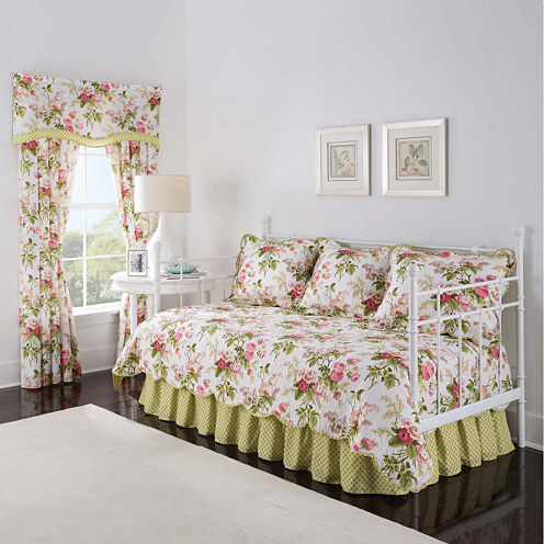 Waverly 174 Emmas Garden Reversible 5 Pc Daybed Cover Set