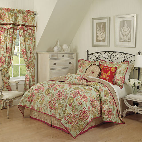 Waverly® Charismatic Honeysuckle Reversible Quilt Set