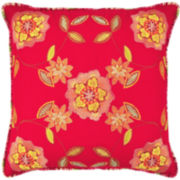 Waverly® Charismatic Honeysuckle Square  Decorative Pillow