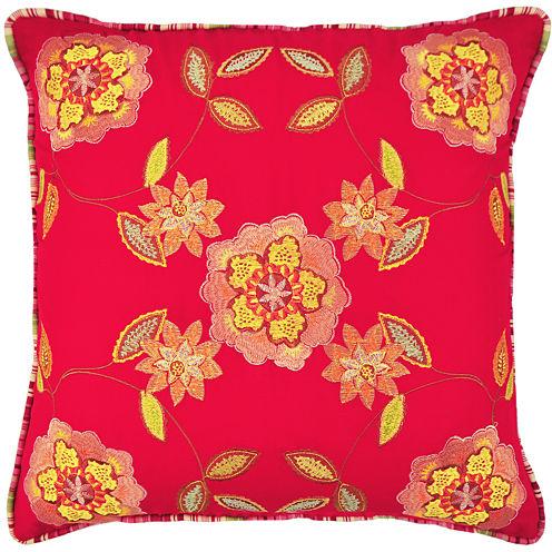 Waverly® Charismatic Honeysuckle Square  Decorative Pillow
