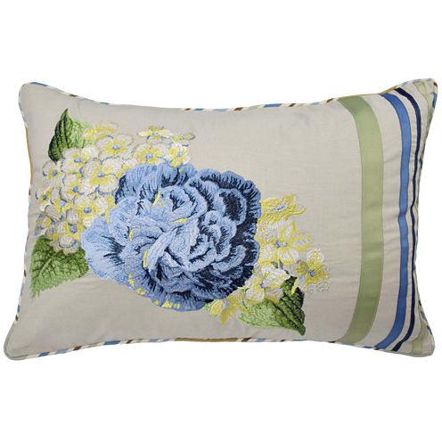 "Waverly® Floral Flourish 20"" Oblong Decorative Pillow"