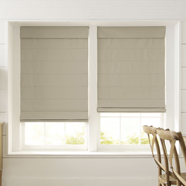 Decorating roman shades for windows : JCPenney Home Dover Cordless Roman Shade