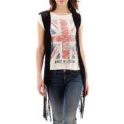 MNG by Mango® Crochet-Fringe Vest