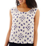MNG by Mango® Sleeveless Embroidered Top