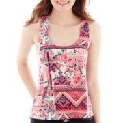 Self Esteem® Crochet-Back Tank Top