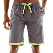 U.S. Polo Assn.® Striped-Leg Cargo Swim Trunks