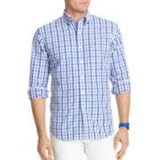 IZOD® Long-Sleeve Large Tattersall Shirt