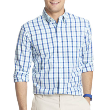 jcpenney.com | IZOD® Long-Sleeve Large Tattersall Shirt