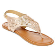Mixit™ Metallic Cutout Shield Sandals