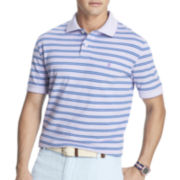 IZOD® Short-Sleeve Striped Oxford Piqué Polo
