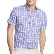 IZOD® Short-Sleeve Lightweight Plaid Shirt