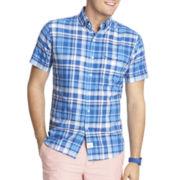 IZOD® Short-Sleeve Seaside Plaid Woven Shirt