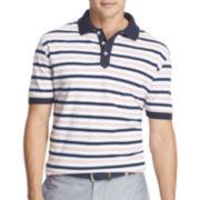 IZOD® Textured Feeder-Stripe Polo
