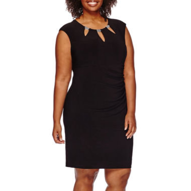 jcpenney.com | Scarlett Sleeveless Embellished Cut-Out Neck Ruched Dress - Plus