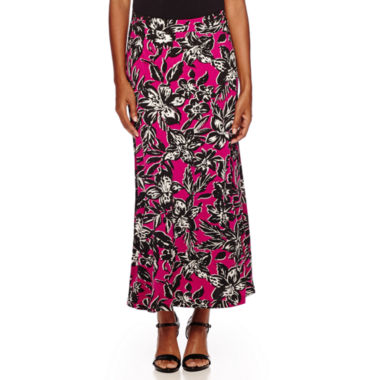 jcpenney.com | Black Label by Evan-Picone Palm Print Maxi Skirt