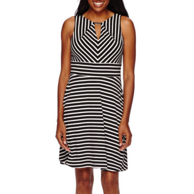 jcpenney.com | Liz Claiborne® Sleeveless Striped Fit-and-Flare Dress