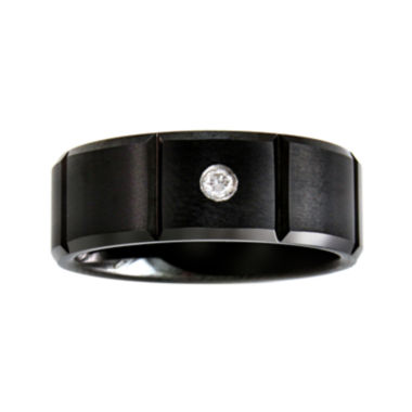 jcpenney.com |  Mens Diamond-Accent Black Wedding Band