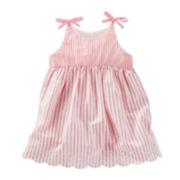 OshKosh B'Gosh® Neutral Stripe Dress Nb-24M