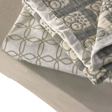 jcpenney.com | Lolli Living 2-pc. Muslin Jacquard Grey Crib Bedding Set