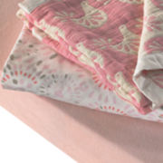 Lolli Living 2-pc. Muslin Jacquard Pink Crib Bedding Set