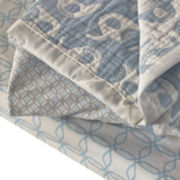 Lolli Living 2-pc. Muslin Jacquard Blue Crib Bedding Set