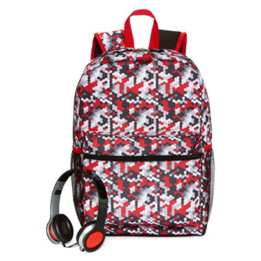 jcpenney.com | Digi Camo Backpack with Headphones