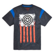 Marvel® Short-Sleeve Captain America Flag Tee - Boys 8-20