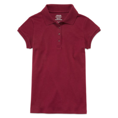 jcpenney.com | IZOD® Short-Sleeve Interlock Polo - Girls 7-18 and Plus