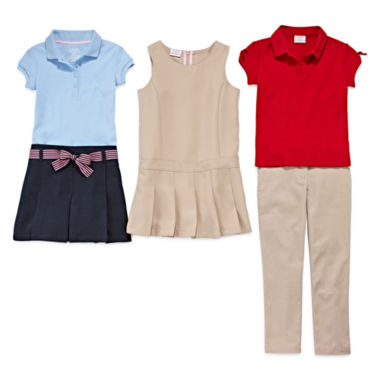 jcpenney.com | IZOD® Picot Polo, Ribbon-Belted Scooter, Bow-Sleeve Polo, Jumper or Skinny Pants