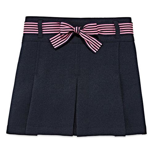 IZOD® Ribbon-Belted Scooter Skirt - Preschool Girls 4-6x