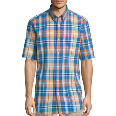 jcpenney.com | St. John's Bay® Short-Sleeve Madras Sport Shirt