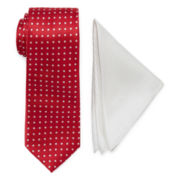 U.S. Polo Assn.® Dot Tie and Solid Pocket Square Set