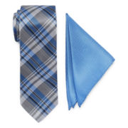 U.S. Polo Assn.® Plaid Tie and Solid Pocket Square Set