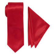 U.S. Polo Assn.® Solid Tie and Pocket Square Set