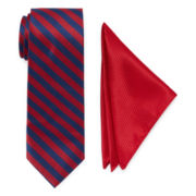 U.S. Polo Assn.® University Stripe Tie and Pocket Square Set