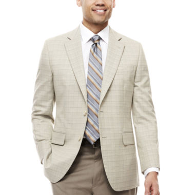 jcpenney.com | Stafford® Travel Year Round Plaid Sport Coat - Classic-Fit