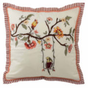 """Waverly® Retweet 18"""" Square Embroidered Decorative Pillow"""