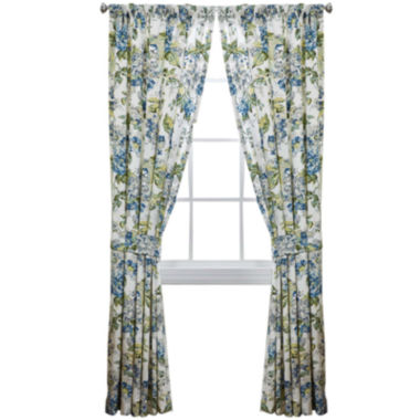 jcpenney.com | Waverly® Floral Engagement 2-Pack Rod-Pocket Lined Curtain Panels