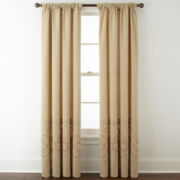 JCPenney Home™ Lined Back-Tab Embroidered Window Panels