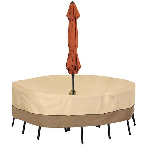 Classic Accessories® Veranda Small Round Table with Umbrella Hole Cover