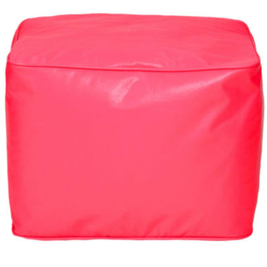 jcpenney.com | Faux-Leather Beanbag Ottoman