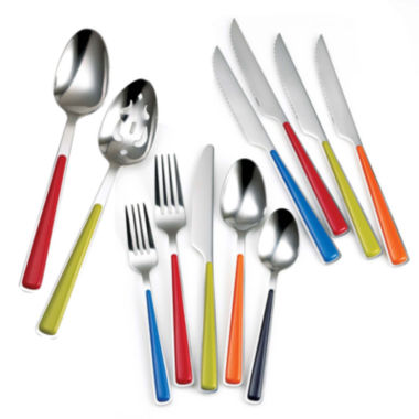 jcpenney.com | Fiesta® Merengue 50-pc. Set with Steak Knives - Service for 8