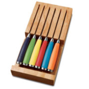 Fiesta® 6-pc. Multicolor Steak Knife & Drawer Tray Set