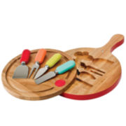 Fiesta® 4-pc. Multicolor Cheese Tool & Swivel-Top Board Set