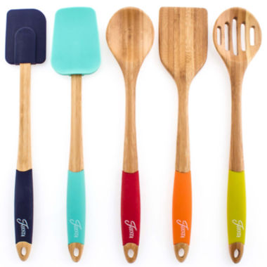 jcpenney.com | Fiesta® 5-pc. Bamboo & Silicone Utensil Set