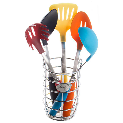 Fiesta® 6-pc. Multicolor Utensil Set with Caddy