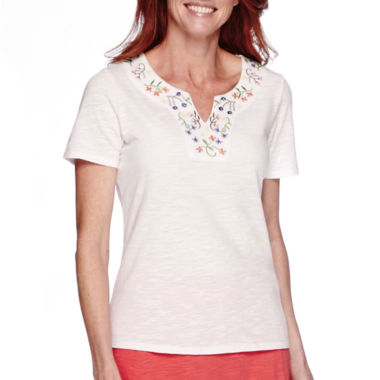 jcpenney.com | Sag Harbor Bahama Mama Short-Sleeve Embroidery Top