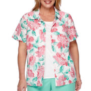 Alfred Dunner® Acapulco Short-Sleeve Floral Two-for-One Top - Plus